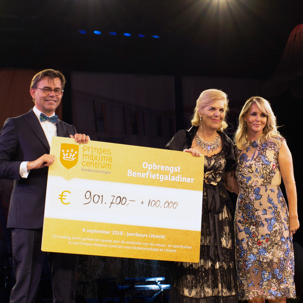 Great proceeds charity gala dinner Princess Máxima Center