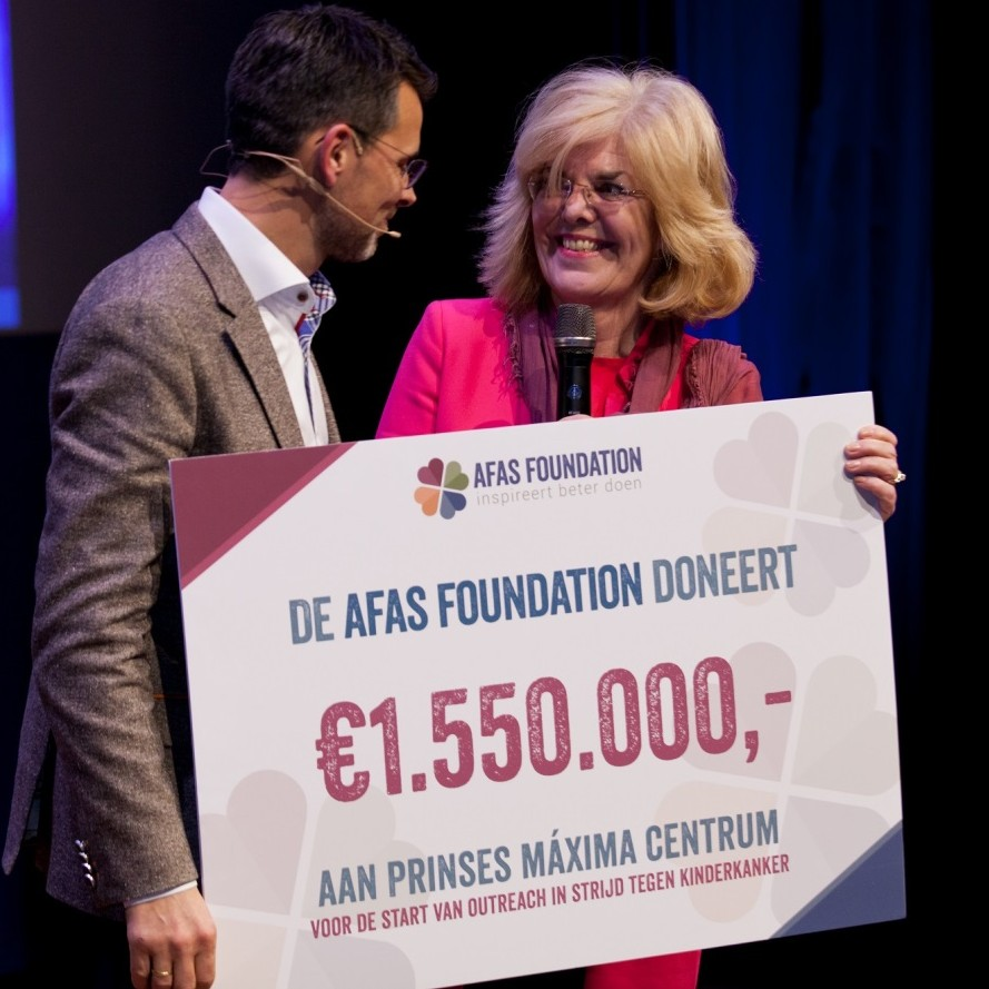 AFAS Foundation donates  € 1,550,000 for Outreach Program